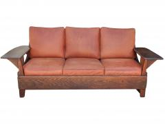 Old Hickory Furniture Co Hickory 1930 s Paddle Arm Sofa w - 1031547