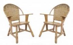 Old Hickory Furniture Co Set of 6 Old Hickory Ash Wood Dining Chairs - 726265