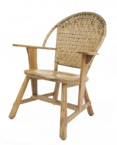 Old Hickory Furniture Co Set of 6 Old Hickory Ash Wood Dining Chairs - 726266