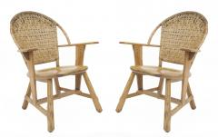 Old Hickory Furniture Co Set of 6 Old Hickory Ash Wood Dining Chairs - 726295