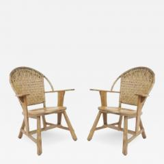 Old Hickory Furniture Co Set of 6 Old Hickory Ash Wood Dining Chairs - 726332