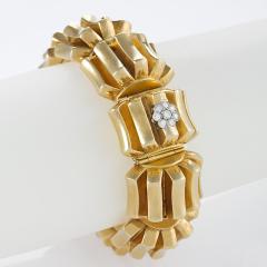 Omega Omega Mid 20th Century Diamond and Gold Watch Bracelet - 684506