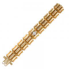 Omega Omega Mid 20th Century Diamond and Gold Watch Bracelet - 684507