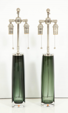 Orrefors Forest Green Glass Lamps by Orrefors  - 1021571