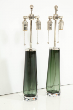 Orrefors Forest Green Glass Lamps by Orrefors  - 1021572