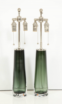 Orrefors Forest Green Glass Lamps by Orrefors  - 1021573