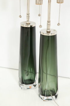 Orrefors Forest Green Glass Lamps by Orrefors  - 1021574