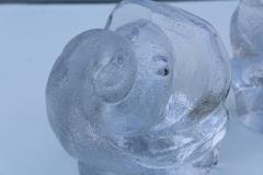 Orrefors Lars Hellsten For Orrefords Art Glass Elephant Bookends - 1565361