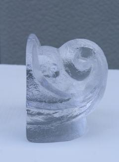 Orrefors Lars Hellsten For Orrefords Art Glass Elephant Bookends - 1565364