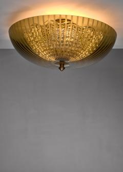 Orrefors One of two Orrefors green glass ceiling lamps - 1736004