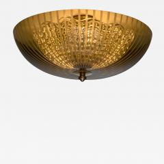 Orrefors One of two Orrefors green glass ceiling lamps - 1737033
