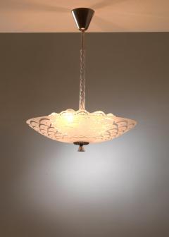 Orrefors Orrefors glass and metal pendant lamp - 1490815