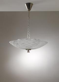 Orrefors Orrefors glass and metal pendant lamp - 1490816