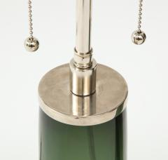 Orrefors Pair of Large Green Glass Lamps by Orrefors  - 1866888