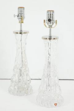 Orrefors Pair of Orrefors Crystal Lamps - 779724