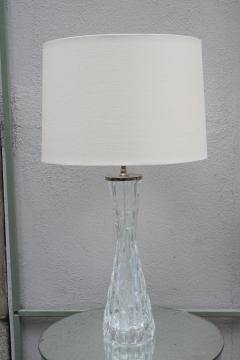Orrefors Pair of Orrefors Large Crystal Table Lamps - 1510553