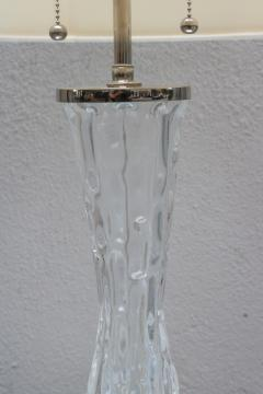 Orrefors Pair of Orrefors Large Crystal Table Lamps - 1510555