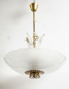 Orrefors Pair of Swedish Orrefors Chandeliers circa 1940s - 753525