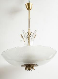 Orrefors Pair of Swedish Orrefors Chandeliers circa 1940s - 753529