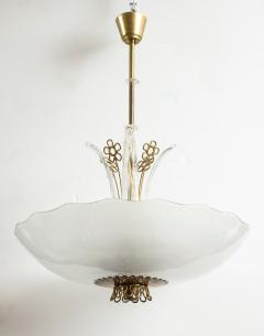 Orrefors Pair of Swedish Orrefors Chandeliers circa 1940s - 753530