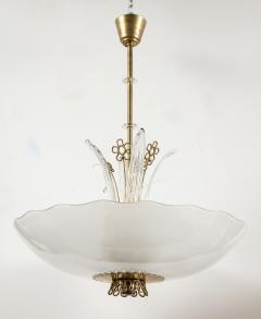 Orrefors Pair of Swedish Orrefors Chandeliers circa 1940s - 753532