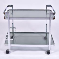 Orsenigo Italian 1970s chrome and glass drinks trolley by Orsenigo - 1463682