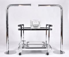 Orsenigo Italian 1970s chrome and glass drinks trolley by Orsenigo - 1463683