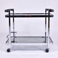 Orsenigo Italian 1970s chrome and glass drinks trolley by Orsenigo - 1463685
