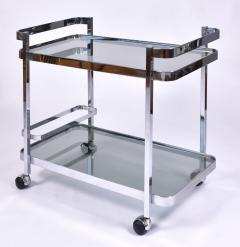 Orsenigo Italian 1970s chrome and glass drinks trolley by Orsenigo - 1463688