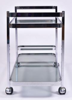 Orsenigo Italian 1970s chrome and glass drinks trolley by Orsenigo - 1463691