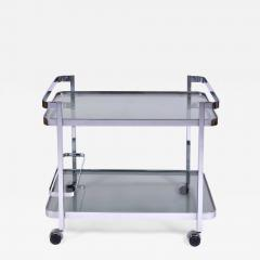 Orsenigo Italian 1970s chrome and glass drinks trolley by Orsenigo - 1464984