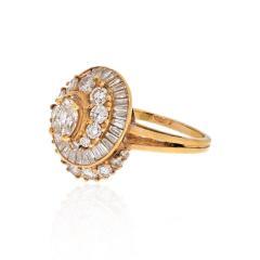 Oscar Heyman Brothers OSCAR HEYMAN 18K YELLOW GOLD 2 CARAT OVAL CUT DIAMOND HALO RING - 1912328