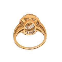 Oscar Heyman Brothers OSCAR HEYMAN 18K YELLOW GOLD 2 CARAT OVAL CUT DIAMOND HALO RING - 1912329