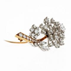 Oscar Heyman Brothers OSCAR HEYMAN DIAMOND 3 75 CARATS FLORAL BROOCH - 1858312