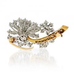 Oscar Heyman Brothers OSCAR HEYMAN DIAMOND 3 75 CARATS FLORAL BROOCH - 1858314