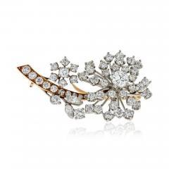 Oscar Heyman Brothers OSCAR HEYMAN DIAMOND 3 75 CARATS FLORAL BROOCH - 1858800