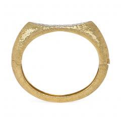 Oscar Heyman Brothers Oscar Heyman 1960s Modernist Gold and Diamond Bangle Bracelet - 1545545