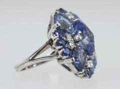 Oscar Heyman Brothers Oscar Heyman Natural Sapphire Diamond Ring - 198994
