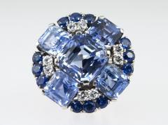 Oscar Heyman Brothers Oscar Heyman Natural Sapphire Diamond Ring - 198995