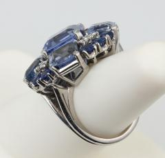 Oscar Heyman Brothers Oscar Heyman Natural Sapphire Diamond Ring - 198997