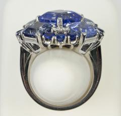 Oscar Heyman Brothers Oscar Heyman Natural Sapphire Diamond Ring - 198998