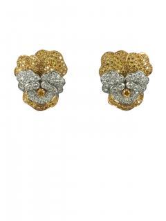 Oscar Heyman Brothers Oscar Heyman Pansy earrings - 742563