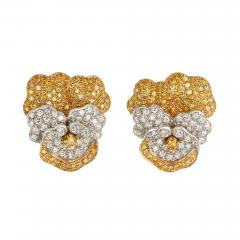 Oscar Heyman Brothers Oscar Heyman Pansy earrings - 743021