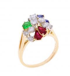 Oscar Heyman Brothers Oscar Heyman Precious Gem Diamond Gold Platinum Ring - 435985