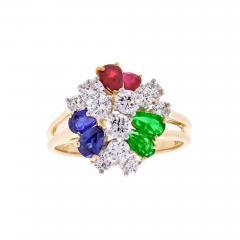 Oscar Heyman Brothers Oscar Heyman Precious Gem Diamond Gold Platinum Ring - 444155