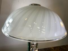 Ottaviani EXCEPTIONAL SILVER MURANO GLASS AND MARBLE LAMP BY OTTAVIANI - 1434591