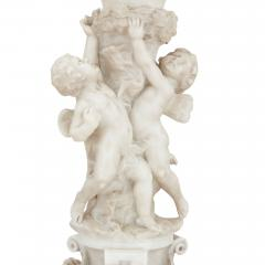 P Conti Italian Neoclassical style alabaster and marble lamp - 2045099