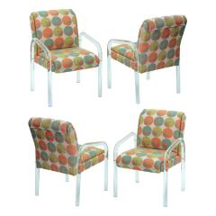 Pace Collection 4 Lucite Dining Game Chairs By Leon Rosen For Pace Collection - 155918