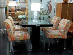 Pace Collection 4 Lucite Dining Game Chairs By Leon Rosen For Pace Collection - 155922