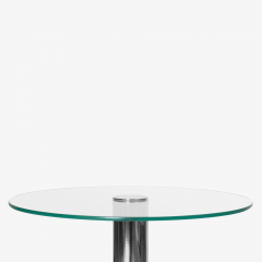 Pace Collection Chrome Accent Table in the Style of Leon Rosen for Pace - 1899090